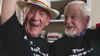 Sir Ian McKellan Is Having The Best Time Celebrating Gay Pride