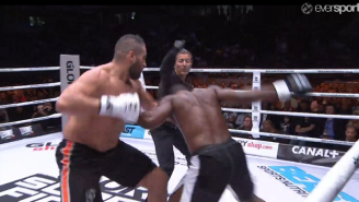 Watch This Awesome Knockout In A Heavyweight Kickboxing Match