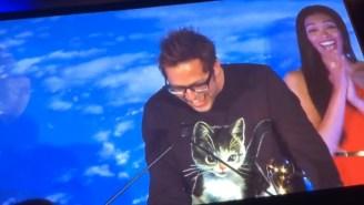 James Gunn Reads Chris Pratt's Cheeky Acceptance Speech At The Saturn Awards