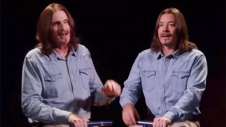 Two James Taylors Rode A Seesaw And Sung About It On 'The Tonight Show'