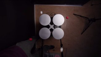 Watch A Robot Juggle Four Balls Using Nothing But Physics
