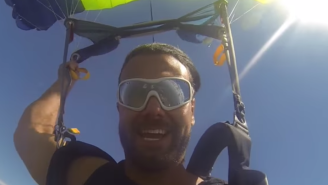 Watch Former WWE Wrestler Justin Gabriel Cut A Promo After Jumping Out Of A Plane