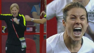 Please Enjoy U.S. Women's Soccer Going Nuts After Sealing A Victory Against Germany