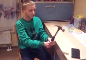 Watch As This Kid's Phone Durability Test Doesn't Go As Planned