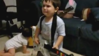 """This 2 year old reacts perfectly to Rage Against the Machine's """"Bulls on Parade"""""""