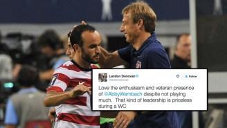 Did Landon Donovan Tweet A Little Shade At Jürgen Klinsmann After The U.S. Women's World Cup Win?