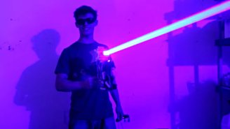 Watch A Highly Destructive 'Laser Shotgun' In Action