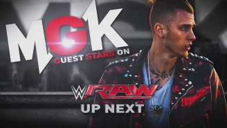 Machine Gun Kelly Is No-Selling The Kevin Owens Powerbomb From Raw