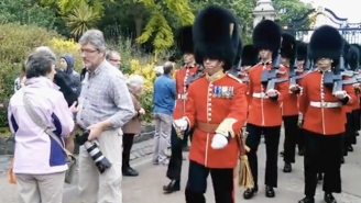 When The Queen's Guards Say 'Make Way,' You Better Make Way, Learns Stupid Man