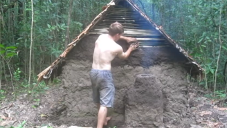 Watch This YouTube 'Survivor Man' Build A Makeshift Shelter Using Only His Two Bare Hands