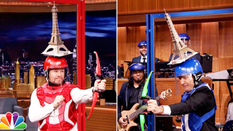 Mark Wahlberg And Jimmy Fallon Pretty Much Played 'Double Dare' On 'The Tonight Show'