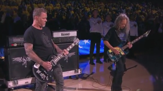 Metallica Shredded The National Anthem Before Game 5