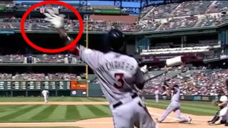 Watch This Tremendous Catch Off A Foul Ball From A Player In The On-Deck Circle