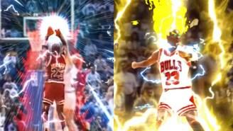 Michael Jordan's Shot Over Craig Ehlo Gets The Super Saiyan Treatment, And It's Spectacular