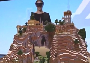 Microsoft's HoloLens Demo For 'Minecraft' Is Jaw-Dropping