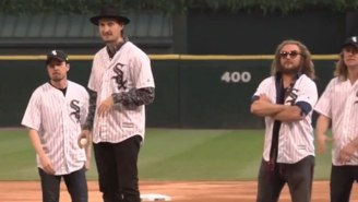 Watch My Morning Jacket Throw Out The First Pitch At A White Sox Game