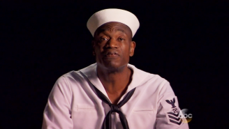 Here's Dikembe Mutombo Raising Awareness About Wobbly Restaurant Tables On 'Kimmel'