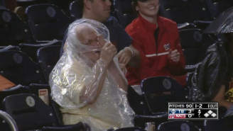 Putting On A Poncho Is Very Difficult, As This Nationals Fan Demonstrated