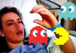 Watch This Girl Deal With An Emotional Case Of Pac-Man Fever Following Her Surgery