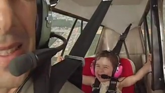 Check Out This Adorable 4-Year-Old Have A Blast During An Aerobatic Flight