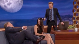 Andy Richter Broke The Couch On 'Conan' Last Night