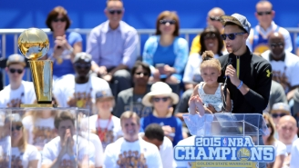 Riley Curry Had A Rare Moment Of Shyness At The Warriors' Championship Celebration