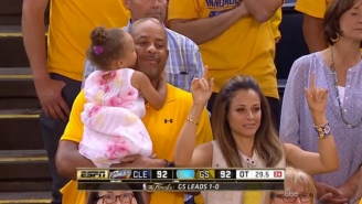Watch Steph Curry's Daughter Try To Make Grandma Jealous By Smooching Grandpa