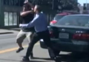 Watch As A Wild Road-Rage Incident Gets Caught On Camera In California