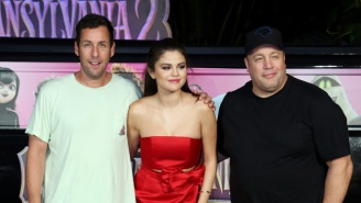 Adam Sandler Showed Up To A Photo Call In His Finest Sweatpants