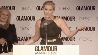 Watch Amy Schumer's 'Glamour' Speech: 'I'm 160 Pounds And Can Catch A Dick Whenever I Want'