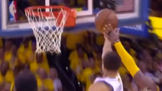 Kyrie Irving's Block On Steph And LeBron James' Miss Sends Game 1 Into Overtime