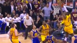 Matthew Dellavedova Throws An Incredibly Lucky Alley-Oop To LeBron James