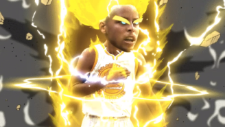Here's Stephen Curry Going Super Saiyan During The NBA Finals