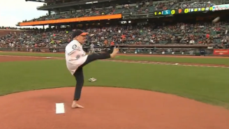 This Man With No Arms Threw Out A Perfect First Pitch