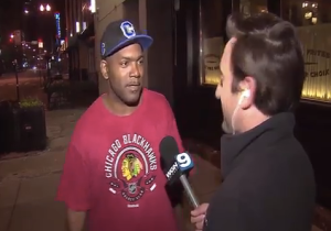 This Fan Had The Greatest Live TV Interview Following Chicago's Stanley Cup Win