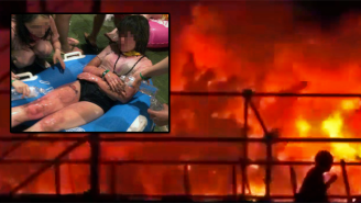 Here's Footage Of The Inferno At A Taiwan Water Park That Injured Hundreds
