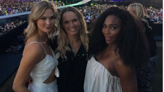 Serena Williams And Caroline Wozniacki Joined Taylor Swift On Stage Ahead Of Wimbledon