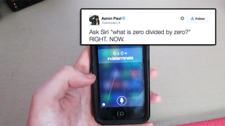 Aaron Paul And Others Decide To Ask Apple's Siri To Divide By Zero And Things Get Snarky