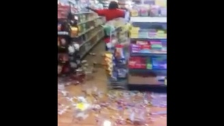 This Woman Completely Destroyed A Convenience Store Because They Were Out Of Skittles