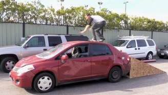 Watch Steve-O Destroy His Car By Having People Skateboard On It, Because Why Not?