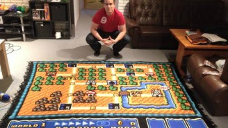 This Devoted Fan Spent Six Years Making One Very Detailed 'Super Mario Bros. 3' Themed Blanket