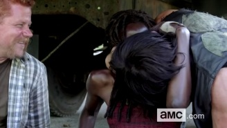 Watch Daryl Make Out With Michonne On The Set Of 'The Walking Dead'