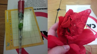 A Kid Confused A Red Thong With A Rose And Gave It To His Teacher