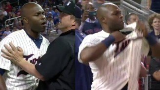 Watch Torii Hunter Completely Lose It And Strip Off His Clothes After An Ejection