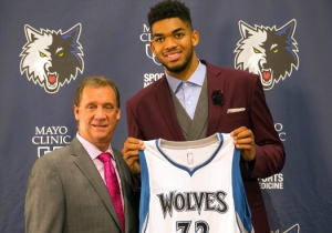 Watch No. 1 Pick Karl-Anthony Towns Show Off His Effortless 3-Point Range
