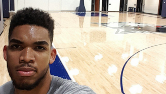 Karl-Anthony Towns Got In A Late Night Workout Less Than 24 Hours After The Draft