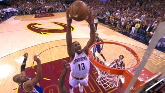 Tristan Thompson Flies In From Nowhere For The Huge Put-Back Slam