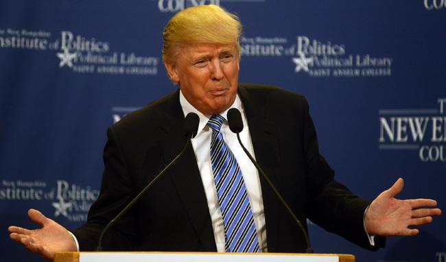 Donald Trump Speaks At Politics & Eggs Event In New Hampshire