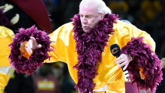 Ric Flair Showed Up In Cleveland For Game 4 As Promised, And It Was Just As Great As You'd Think