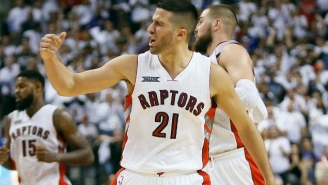 The Raptors Trade Greivis Vasquez To The Bucks For A Future First-Round Pick
